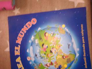 atlas infantil ilustrado para colorear