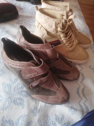 2 pares botas mujer