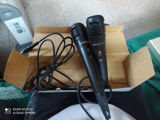 Par de micrófonos de karaoke Sunstech