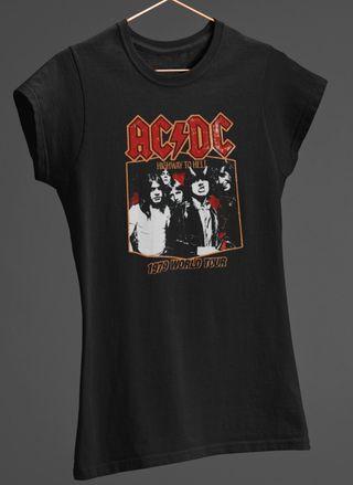 Camiseta Mujer AC/DC NUEVA