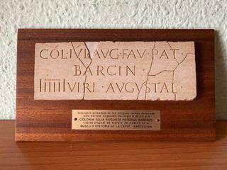 Réplica lápida original 'Barcino'