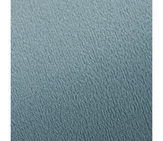 Taburete de terciopelo azul claro y dorado