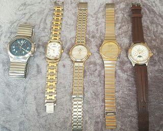 Relojes: rolex, hermès, swatch, piaget, breitlin.