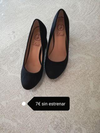 zapato tacon bajo