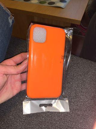 Funda Case naranja de Iphone 11 pro Max