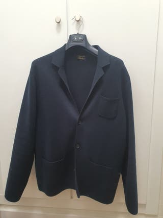 americana chaqueta azul marino xl