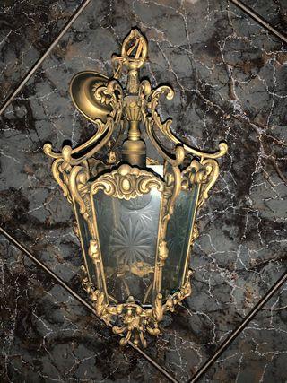 Lámpara antigua tipo Farol