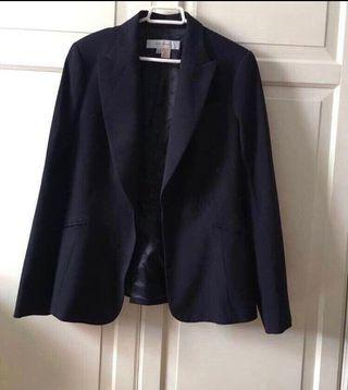 ZARA chaqueta/americana azul marino