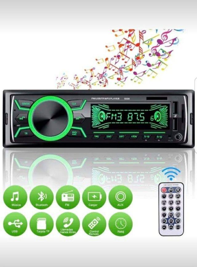 Radio Ultramoderna Mp3 con Bluetooth, USB, Tarjeta