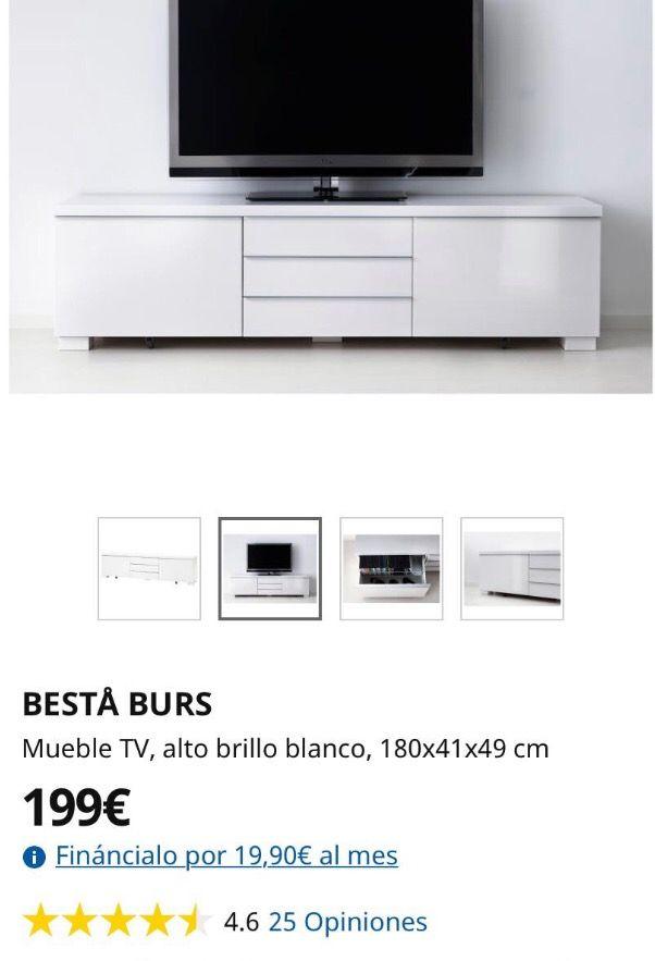 Mueble TV - Aparador lacado blanco PERFECTO ESTADO