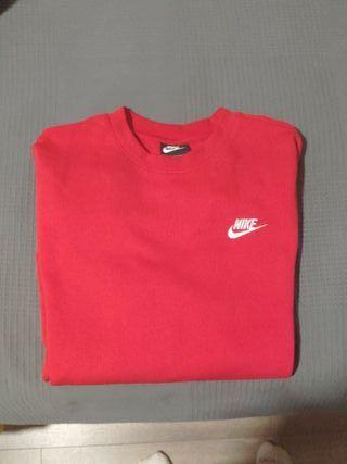 Sudadera Nike roja basica