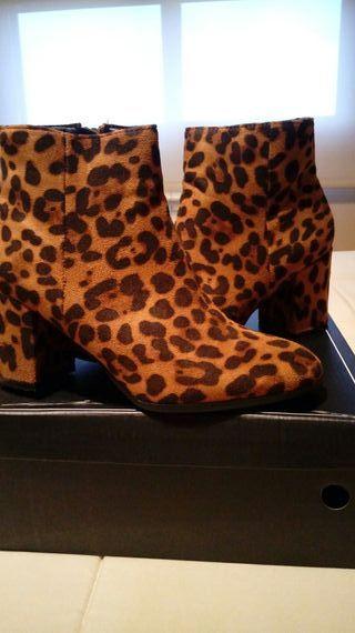 botines leopardo un solo uso