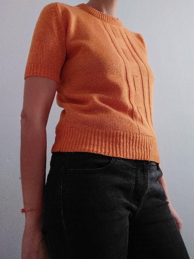 Jersey manga corta naranja talla S