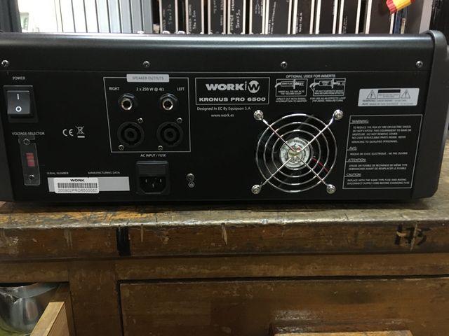 Mesa sonido autoamplificada NUEVA kronus pro6500
