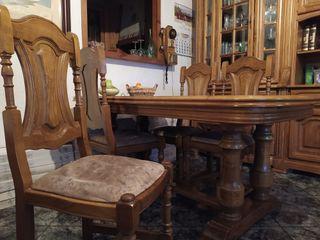 mueble,mueble tele,mesa,sillas roble