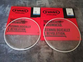 2 Parches Evans Resonant Glass a estrenar