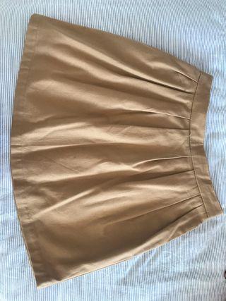 Falda paño marrón