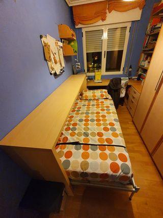 cama abatible horizontal. 90x1.90