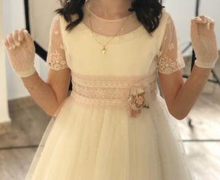 Precioso Vestido comunion Rosa Clara