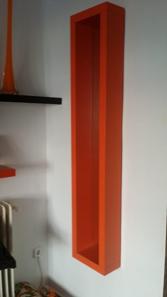 Espejo naranja Salón.Recibidor . Adorno.