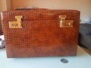 Joyero maletín con cerradura con contraseña y llav