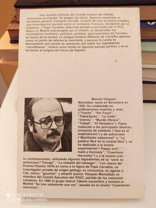 libro Asesinato en el Comité Central Vázquez Monta