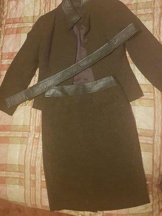 PEDRO DEL HIERRO,traje tweed,talla 40