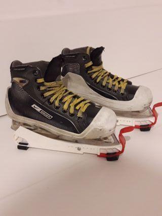 hockey patines hielo portero