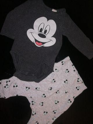 conjunto mickey mouse bebé recién nacido 0-2 meses