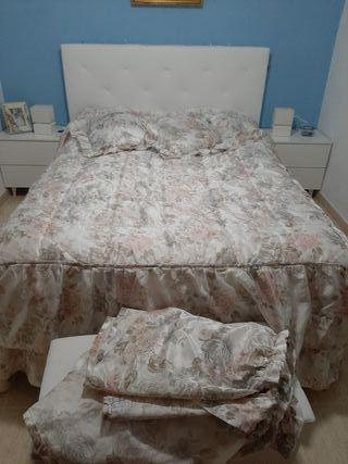 colcha edredón de raso cama 135