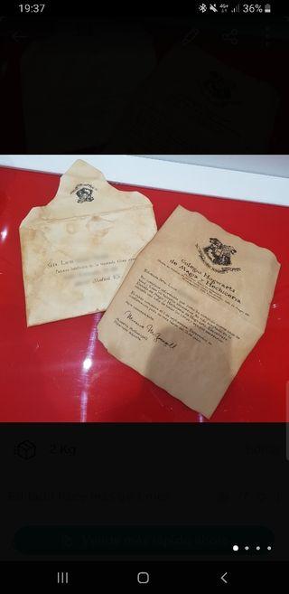 Carta Hogwarts personalizable