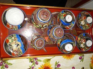 Antigüedades colección vajilla para cafe/te