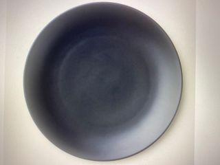 Platos planos de porcelana negros