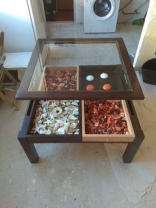 mesa de centro color wengue