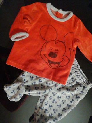 conjunto bebé mickey recién nacido 0-3 meses 60cm