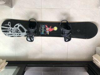 Tabla snowboard A. con fijaciones Burton
