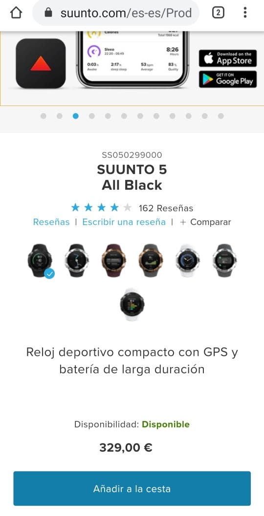 (Por estrenar)Suunto 5 All Black