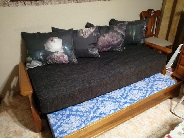 sofá cama madera