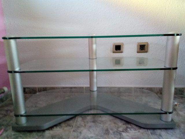 mesa tv de cristal