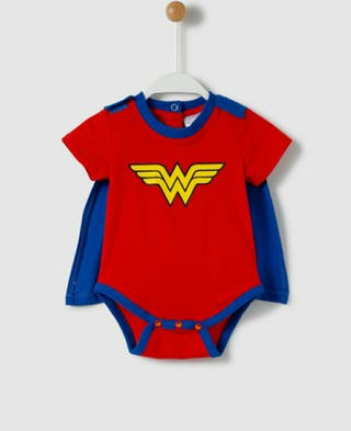 Body disfraz de Wonderwoman talla 3-6 meses