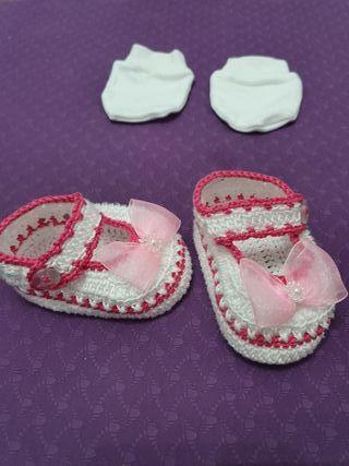 Zapatos tejidos recién nacido de 0 a 3 meses