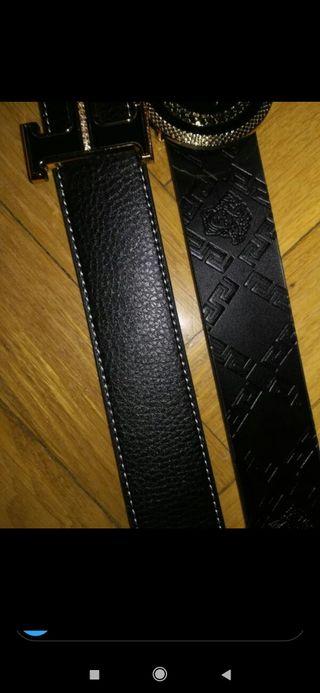 cinturón Hermes y Versace