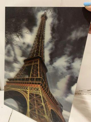 Cuadro 3D torre eiffel