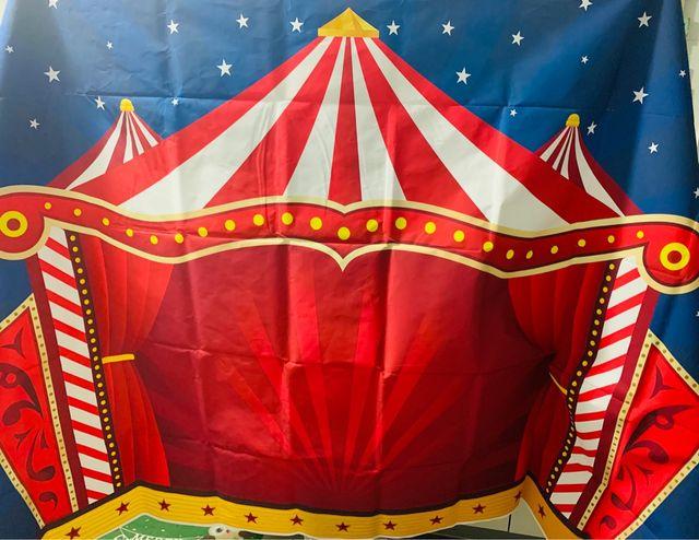 Photocall circo de tela de vinilo 210x150 cm