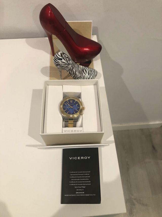 Reloj Viceroy plata y dorado unisex