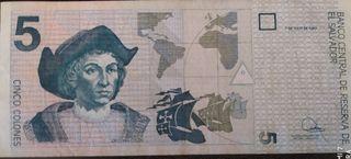 billete de El Salvador