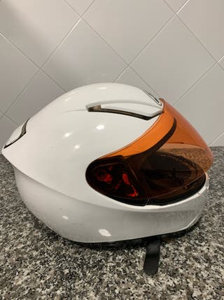 Casco moto MT blanco tall M.