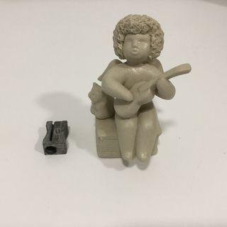 Angel músico guitarra cerámica