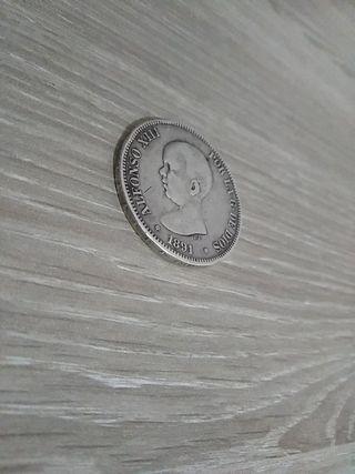 Moneda de 5 pesetas de 1870