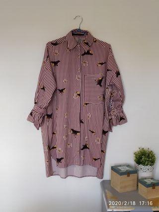 Camisa larga mujer